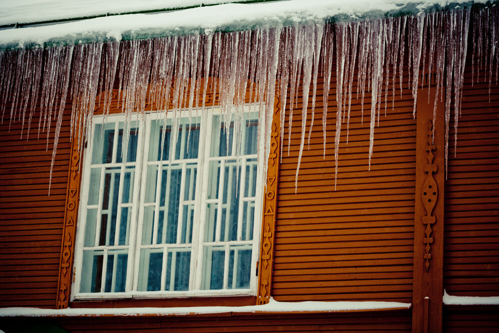 Ice Dam on Home