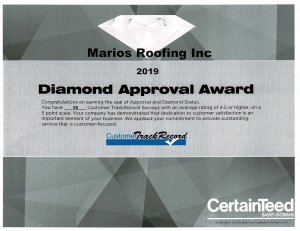 Diamond Approval Award
