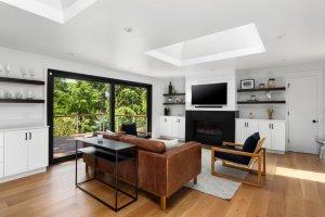 Skylight in living room